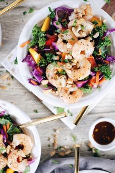 Chopped Thai Shrimp Salad (Paleo GF Dairy-Absolutely free Refined Sugar-Absolutely free)