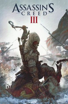 ASSASSIN/'S CREED III ~ PREPARED ~ 22x34 Video Game POSTER 3 Connor Kenway