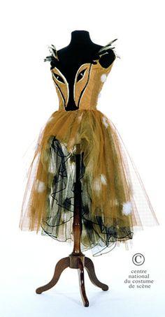 """""""Une biche"""" (A doe) costume by Pierre Clayette, 1964~Image © Centre National du Costume de Scène."""
