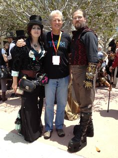 SDCC 2012 Starburner awards with Bruce Boxleitner and Thomas.