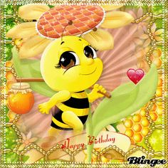 Happy Happy Birthday! Happy Birthday, Birthday Wishes, Buzz Bee, Animation, Pikachu, Children, Bees, Party, Celebrations