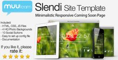 Slendi - Responsive HTML Coming Soon Page