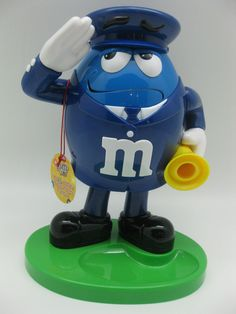 M & M's Brand Blue Policeman Dispenser Candy Dispenser w/Blue Character Toy #MMs