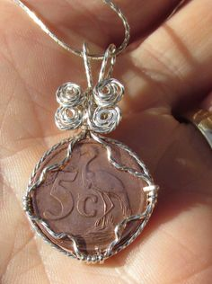 2010South African 5 Cent coin  necklace  wire by johnchapman3