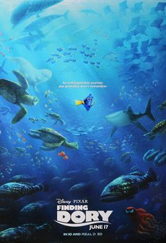 New Reward! Now is your chance to own the beauty of Disney Pixar's Finding Dory with this dazzling poster: