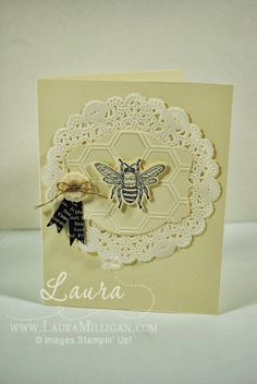 "Laura Milligan, Stampin' Up! Demonstrator - I'd Rather ""Bee"" Stampin! Backyard Basics."