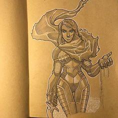 Reposting @eduarroyoilustracion: Fremen girl - Long time without update! This time my all time favourite book: Dune.  . . . visit the artist: https://www.instagram.com/p/BfozUC6hVvN/ . #blueofibad #blueyedgirl #Fremen #Crysknife #Knife #kraftpaper #pencilandink #character #concept #Dune #Arrakis #FrankHerbert #Novel #SciFiBook #DuneArt #SciFi #ScienceFiction #illustration #FanArt #SciFiArt #Artist #Artwork