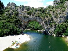 The Pont D'Arc in France