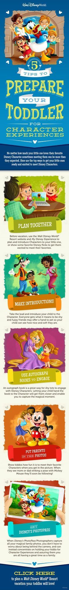 5 Tips to Prepare your Toddler for Character Experiences at Walt Disney World! #vacation #DisneyKids