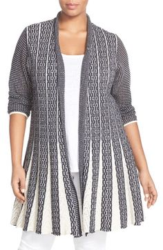 $194 NIC+ZOE 'Trumpet' Long Cardigan (Plus Size) available at #Nordstrom