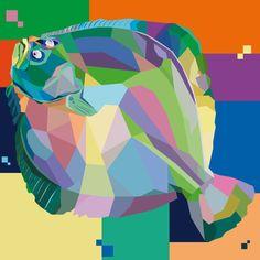 Rombo. Adobe Illustrator. Tecnica Wpap. Autore Sofia Stragliotto 3Al