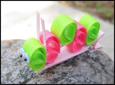 Caterpillar Ribbon Sculpture Hair Clip