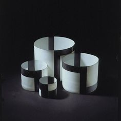 Porcelain cylinders by Bodil Manz