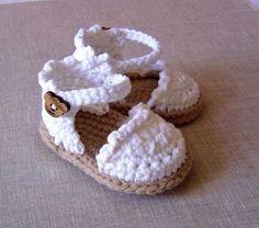 CROCHET PATTERN Baby Espadrille Sandals Easy door matildasmeadow