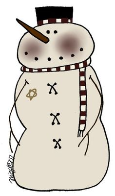 snowman clipart draw clip art my style snowmen pinterest rh pinterest co uk primitive christmas clipart primitive clipart graphics