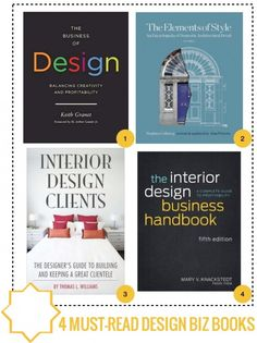 4 MUST READ INTERIOR DESIGN BIZ BOOKS