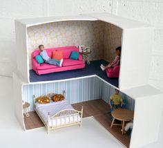 Ayakkabı Kutusundan Bebek Evi Yapımı 1