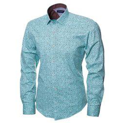 75c8a29e1bf4542 Голубая рубашка с орнаментом в магазине BeMad. Бесплатная доставка по  Москве и РФ