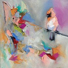"Blaire Wheeler Fine Art - New birdie 12""x12""#blairewheelerart #nashvilleart…"
