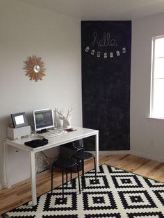 Chalkboard wall, office