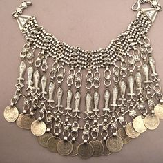 Afghanistan | Silver and old coin necklace | Sold