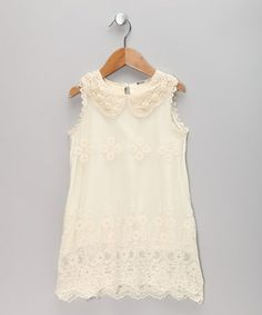 Ivory Lace Sheath Dress - Toddler & Girls by Sweet Charlotte on #zulily #cutiestyle
