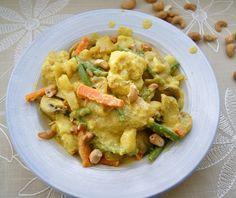 Cashew Vegetable Korma - roasted veggies in a cashew/coconut milk curry sauce.  Paleo and Vegan