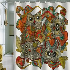 owl shower curtains.  www.astralriles.com #ReDesign #ReInvent #ReLive