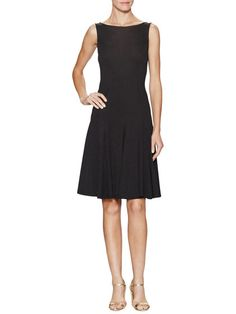 Could use a new LBD. Like this style and v-neck back adds interest. V-Back Fit