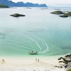 Sommarøy, Tromsø, Norway - I saw the Northern Lights whilst sitting on this beach (obviously as night!).