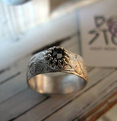 Vintage Engagement Ring Hot Rox Silver by HotRoxCustomJewelry, $245.00