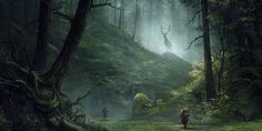 Výsledek obrázku pro A Meeting in the Woods by Sergey Averkin