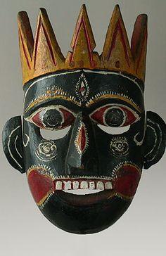 Masks from Around the World  India & Himalayas  Kali Mask  Tharu People, Terrai, Nepal