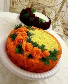 VK is the largest European social network with more than 100 million active users. Vegetable Decoration, Amazing Food Art, Food Carving, Fruit Drinks, A Table, Tart, Sushi, Yummy Food, Vegetables