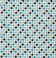 Flea Market Fancy---Flower and Dot in Turquoise--1 yard--Denyse Schmidt for Free Spirit Fabrics. $9,50, via Etsy.