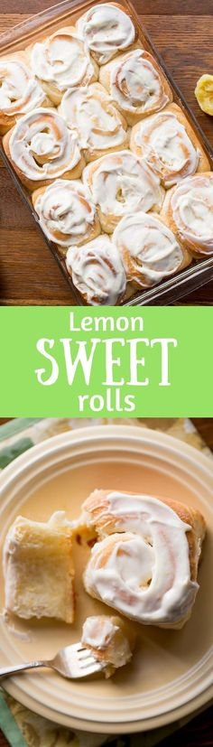 Lemon Sweet Rolls with Lemon Cream Cheese Icing ~ a lightly sweet, soft yeast roll with a lemon infused dough, and a sweet lemon filling, topped with a lemony cream cheese icing. Weekend baking at it's best! www.savingdessert.com