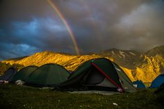 Camping At Dedegol Plateau - aproximately 2000 tents at Dedegol plateau in Isparta, Turkey