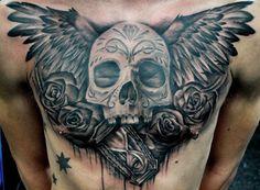Tattoo Artist - Benjamin Laukis   www.worldtattoogallery.com/chest_tattoos