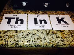 "Element ""Think"" poster for a science classroom"