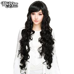 RockStar Wigs store Godiva Collection - Black – Dolluxe® Long Curly Hair, Curly Hair Styles, Wig Store, Lady Godiva, How To Draw Hair, Cosplay Wigs, Wig Hairstyles, Hair Accessories, Beauty