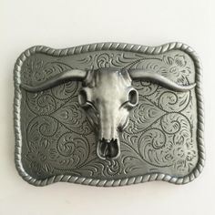 Bull Skull Belt Buckle