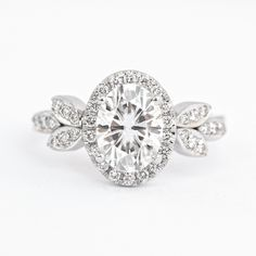 Unique Victorian Moissanite engagement ring, ct Oval Moissanite Diamond Halo vine Floral Wedding jewelry Paired with Ariana Wedding Ring Oval Diamond, Diamond Bands, Diamond Wedding Bands, Diamond Jewelry, Floral Engagement Ring, Diamond Engagement Rings, Wedding Jewelry, Wedding Rings, Halo