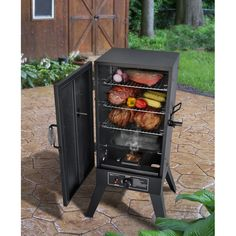Propane Smoker Vertical Meat Smokehouse Great Outdoors Charbroil BBQ Wood Chips for sale online Best Bbq Smokers, Best Smoker Grill, Charbroil Bbq, Bbq Meat, Bbq Ribs, Smoking Cooking, Smoking Meat, Gas Grill Reviews, Propane Smokers