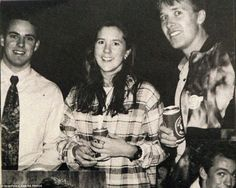 Party girl: Mary Donaldson is pictured