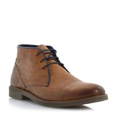 27f06d572aa9 DUNE MENS CACTUS LEA - Leather Desert Boot With Contrast Piping - tan