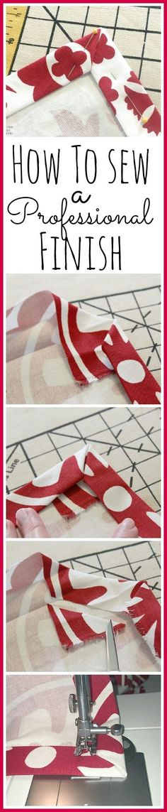How to Sew a Professional Finish – Better Than Store-Bought!-by Kim-A friend recently asked me to sew around a table-cloth for her tailgate tables. A larger hem is more appropriate here. I decided on a double-fold one-inch hem size.