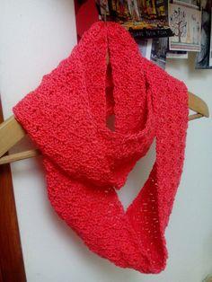 Handmade crochet spring scarf..
