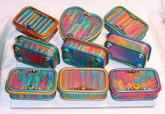 altoid tins covered in polymer clay
