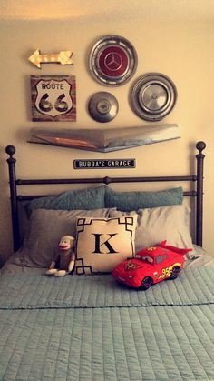 Vintage car theme boys room I designed for my son - Baby Rooom Boy Car Room, Race Car Room, Boys Car Bedroom, Car Themed Bedrooms, Big Boy Bedrooms, Garage Theme Bedroom, Car Bedroom Ideas For Boys, Racing Bedroom, Car Themed Nursery