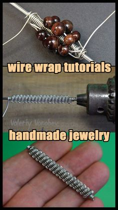 How to make wire necklace step by step. Today's Wire necklace is a great project for anyone just getting started in wire wrapping. Wire Jewelry Making, Handmade Wire Jewelry, Wire Wrapped Jewelry, Wire Jewelry Patterns, Wire Tutorials, Jewelry Making Tutorials, Wire Necklace, Necklaces, Wire Wrapping Tutorial
